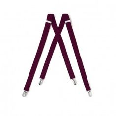 Burgundy Suspenders One Inch Wide Clip End