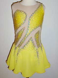 Custom Made to Fit Gorgeous Figure Skating Dress with Crystals | eBay