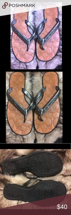 Coach Flip Flops In great condition Coach Shoes Sandals