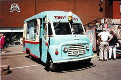Old ice cream van Walsall Ice Cream Companies, Old Lorries, Leeds City, Vintage Ice Cream, Ice Cream Van, Walsall, Van For Sale, Vintage Vans, Ice Cream Flavors