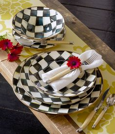 Our beloved Courtly Check enamelware looks great with EVERYTHING!