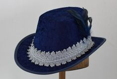 Crushed Velvet Tall Hat Tall Hat, Crushed Velvet, Toad, Fabric Covered, Jewels, Hats, Women, Fashion, Moda