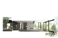 SECTION PERSPECTIVE - MW Works | laurelhurst residence rendering