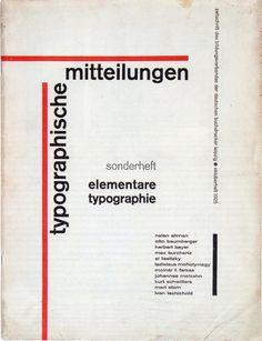 1925 Jan Tschichold Elementare typographie