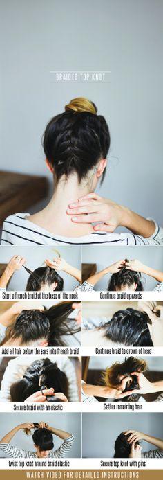 Hair Tutorial // Braided Top Knot