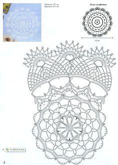 Bilderesultater for crochet doily diagram pattern Crochet Doily Diagram, Crochet Doily Patterns, Crochet Art, Thread Crochet, Filet Crochet, Crochet Motif, Irish Crochet, Crochet Designs, Crochet Crafts