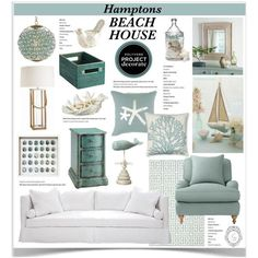 """""""Hanging in the Hamptons Beach House 1"""" by jpetersen on Polyvore"""