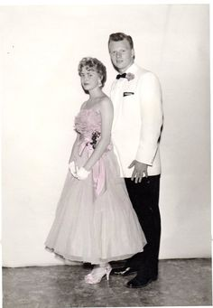 Jeanette and date, 1958.