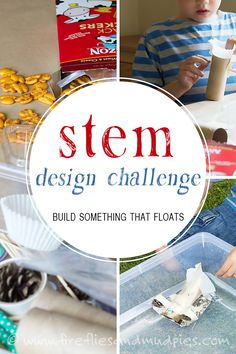 Learn how a STEM Design Challenge can invite your children to become imaginative, out-of-the box problem-solvers. Science Activities For Kids, Steam Activities, Cool Science Experiments, Stem Science, Preschool Science, Learning Activities, Kids Learning, Steam Learning, Preschool Lessons