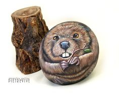 Beaver on stone by Ernestina gallina, Pietrevive. https://www.facebook.com/pietrevive.ernestina