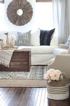 Rustic farmhouse living room decor ideas (1)