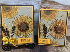 Stampin' Up! Celebrate sunflowers Pretty Cards, Cute Cards, Sunflower Cards, Stamping Up Cards, Thanksgiving Cards, Card Tutorials, Fall Cards, Making Ideas, Cardmaking