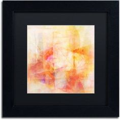 Trademark Fine Art Lightscape Canvas Art by Adam Kadmos, Black Matte, Black Frame, Size: 11 x 11, Red