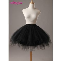Women Black 50s 80s costume Vintage petticoat bubble tulle party accessory tutu -- Awesome products selected by Anna Churchill