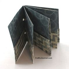 Basic Folded One Sheet Pocket Book - Crafty Journal; been ages since I made one of these!