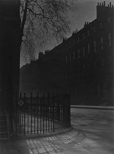 BILL BRANDT Brandt, Bill Blackout in London, Bloomsbury Gelatin silver print. Belsize Avenue credit stamp, titled and notation in ink on the verso. Kevin Carter, Andreas Gursky, Vintage Photography, Street Photography, Art Photography, Cindy Sherman, Vintage London, Old London, Victorian London