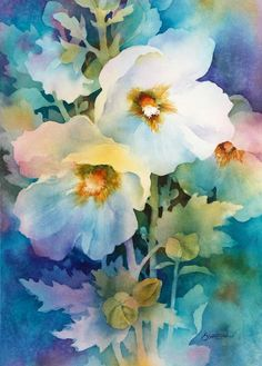 """""""Rise and Shine"""" watercolor by Susan Crouch. Great example of negative painting. """"Rise and Shine"""" watercolor by Susan Crouch. Great example of negative painting. Colorful Art, Art Painting, Floral Watercolor Paintings, Watercolor Flowers Paintings, Floral Art, Painting, Art, Watercolor Negative Painting, Floral Watercolor"""