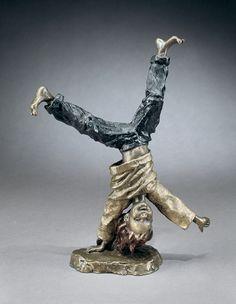 Cartwheeling (large) - A bronze sculpture by Mark Hopkins inches Bronze Sculpture, Lion Sculpture, Human Soul, Art World, Fashion Art, Sculpting, Sketches, Statue, Fine Art
