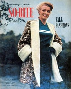 Marilyn on the cover of So-Rite Fashions, fall 1949.