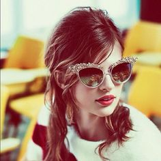 Ready for our closeup >> these sunglasses are my world.