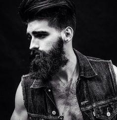 Joel Alexander by Brandon Andre IG:. Badass Beard, Sexy Beard, Full Beard, Beard Love, Hairy Men, Bearded Men, Joel Alexander, Hair And Beard Styles, Long Hair Styles