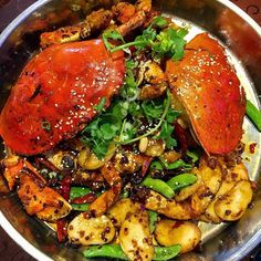 Gave into to my spice cravings and headed to Kam Han for my favorite Extra Spicy Crab Pot with snow peas and rice cakes.  #yum #sogood #soflavourful #hiddengem #spicycrabpot #delish #extraspicy #delish #szechuanfood #sichuanfood #chinesefood #yyceats #yycfood #yycsbest #myfave #instagood #instafood #foodgram #foodstagram #foodpics #food52 #f52grams #latergram