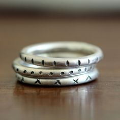 Tribal stacking rings from Praxis Jewelry stacking rings