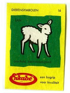 Dutch matchbox label - Lam by Dr R Charles, via Flickr