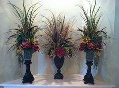 Silk Floral Arrangements by Greatwood Floral Designs.