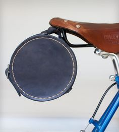 Leather Bike-Mounted Beer Growler Carrier