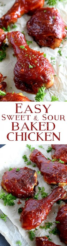 An Easy Sweet and Sour Baked Chicken that's moist and tender, basted with a thick, luscious sauce; inexpensive, delicious, and a crowd-pleasing option for any meal. Whenever I eat chicken, this is exactly how I like it – moist and…
