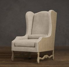 Wing back chair Restoration Hardwear Cheap Office Chairs, Cheap Dining Room Chairs, Living Room Chairs, Cinema Chairs, Spanish Interior, Rolling Chair, Restoration Hardware Chair, Cheap Adirondack Chairs, Floor Protectors For Chairs