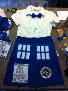 Found my halloween costume! I will now be patrolling thrift stores for a blue skirt and bowtie until Halloween...