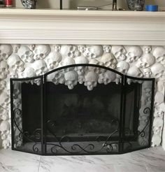Fireplace Molding, Detroit Houses, Skull Mold, Plaster Of Paris, Local Hardware Store, Mould Design, Home Pictures, Fireplace Surrounds, Home Improvement Projects