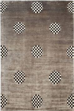 Madeline Weinrib - Tibetan carpet, Gray Silk Milo