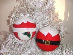 Mr and Mrs Santa Claus Body Suit Hand Beaded Felt Christmas Ornament Set by unicornhoofprints for $24.99
