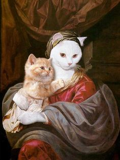 Renaissance Kitty - I would totally frame this and proudly display it in my house