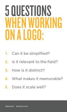 5 important questions to ask yourself when #designing a #logo.