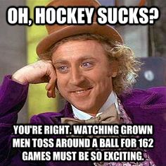Gosh, following hockey people on twitter makes you hate every sport outside of hockey...