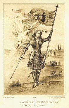Sainte Jeanne d'Arc http://www.maintenantunehistoire.fr/wp-content/uploads/2011/12/Image-pieuse-Sainte-Jeanne-dArc.jpg