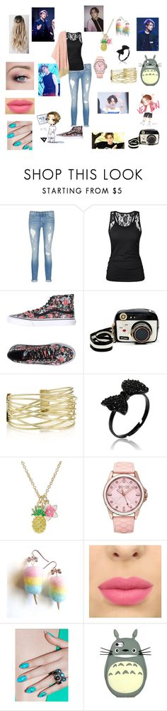 """revamp on vernon"" by kara-kat ❤ liked on Polyvore featuring rag & bone/JEAN, Vans, Betsey Johnson, SO & CO, RAHUA, Polaroid, Melissa McCarthy Seven7 and plus size clothing"