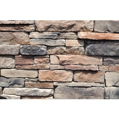 M-Rock 100 Sq. Ft. Brown Ledgestone Flat - $830 per cart Has a good variety of colors and range from light to dark