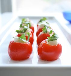Mozz stuffed tomatoes!