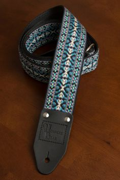 Blue/Purple/Black Guitar Strap by nowherebearstraps on Etsy, $65.00