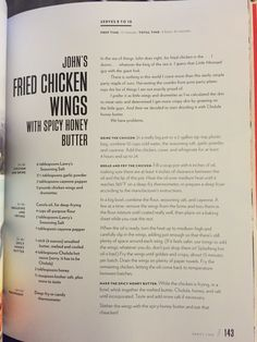 John Legends fried chicken wings with spicy honey butter Chrissy Teigen Cookbook, Chrissy Teigen Recipes, Spicy Honey, Honey Butter, New Recipes, Cooking Recipes, Skillet Recipes, Yummy Recipes, Recipies