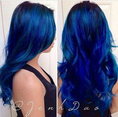 Best Sapphire Blue Hair Color Ideas for Women Look More Stylish Hair Color And Cut, Hair Color Blue, Cool Hair Color, Hair Colors, Ombré Hair, Dye My Hair, Hair Dos, Love Hair, Gorgeous Hair