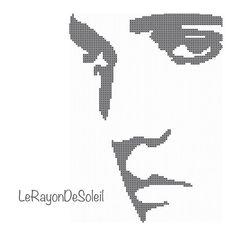Cross stitch pattern Elvis Presley face silhouette on Etsy, 3,00€