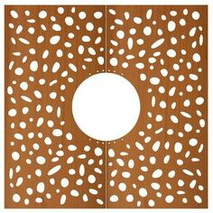 STREETLIFE Tree Grille CorTen Round. Streetlife offers Tree Grilles in a wide range of patterns, i.e. the Pebbles pattern