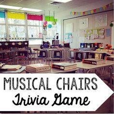 Want an easy, no-prep brain break or a kinesthetic review game? Try musical chairs with a twist!