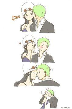 Kisses - Zoro and Robin